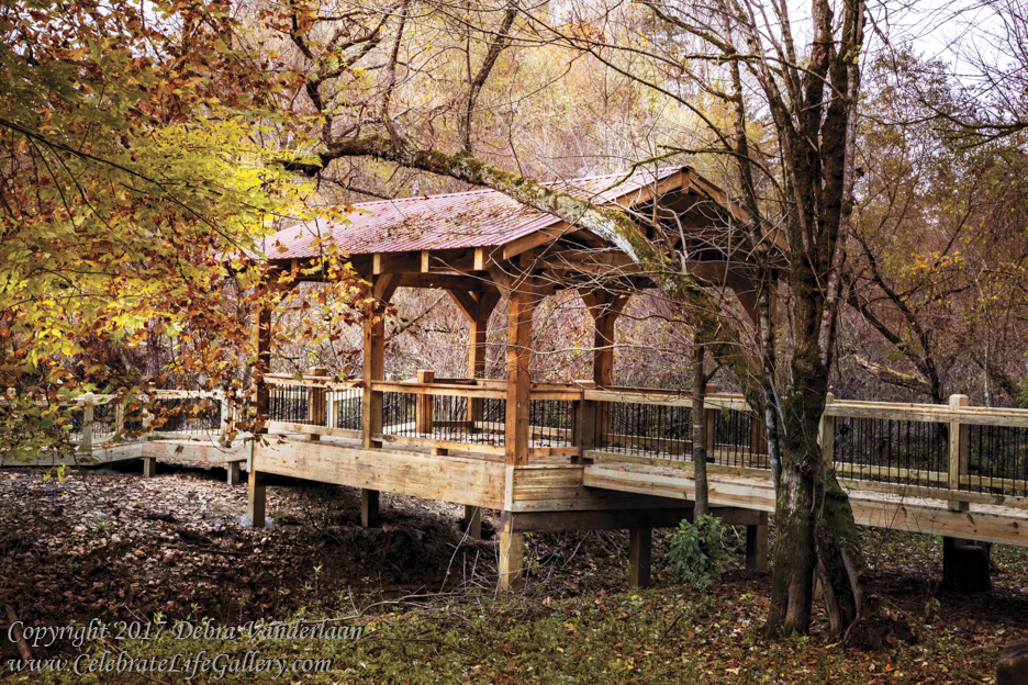 Covered Bridge on the River Walk